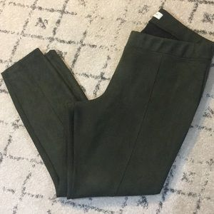 Old Navy Stevie Olive Green Suede Pants/Leggings